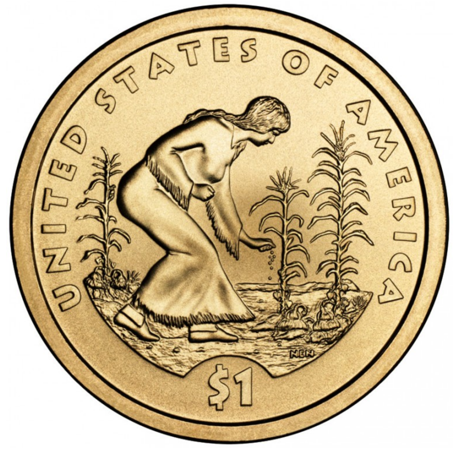 2009 Native American commemorative coin pays tribute to maize, beans and squash.
